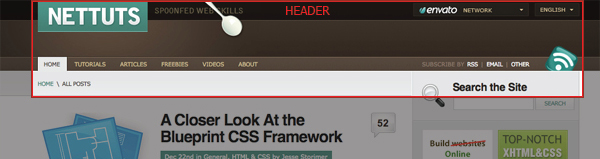 веб-дизайн. золотое сечение