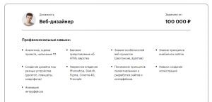 Резюме Веб-Дизайнера